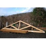 Eight trusses 232'' x 55'' high at centre.