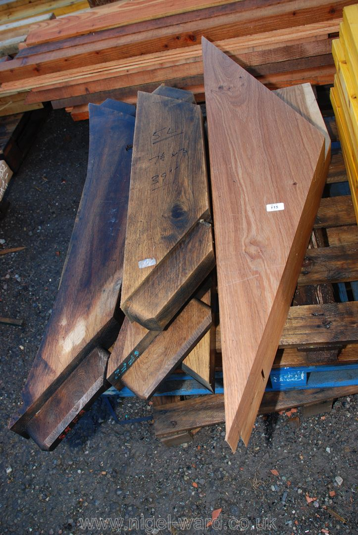 7 pieces of Oak timber 7 1/2'' x 3'' for arch braces 39'' long.