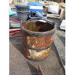 Wishing well wooden bucket