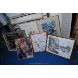 Six various prints.