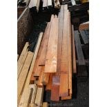 Quantity of timber various lengths.