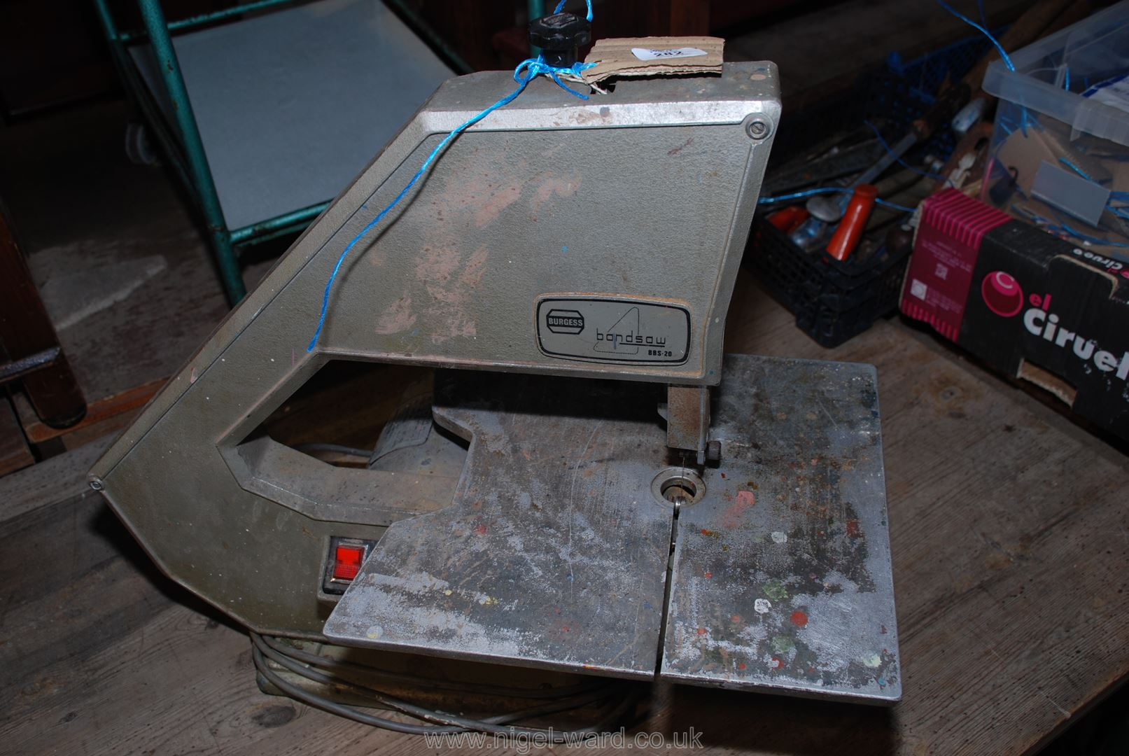 "A ""Burges BS20"" band-saw."