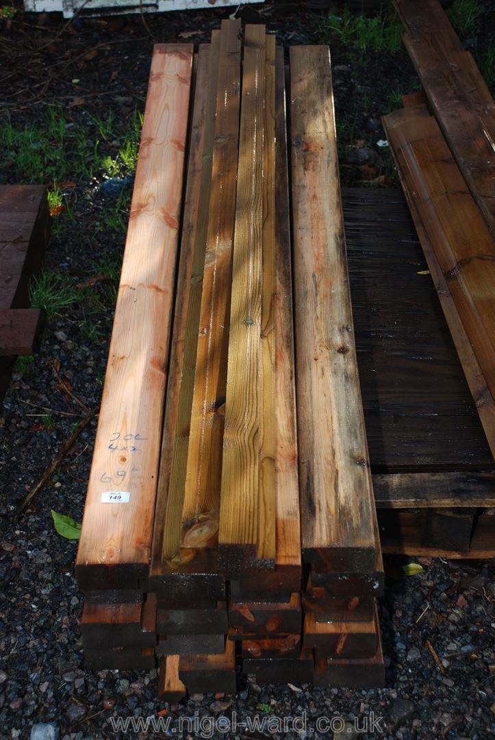 20 lengths of 4'' x 2'' x 60'' long softwood timber.