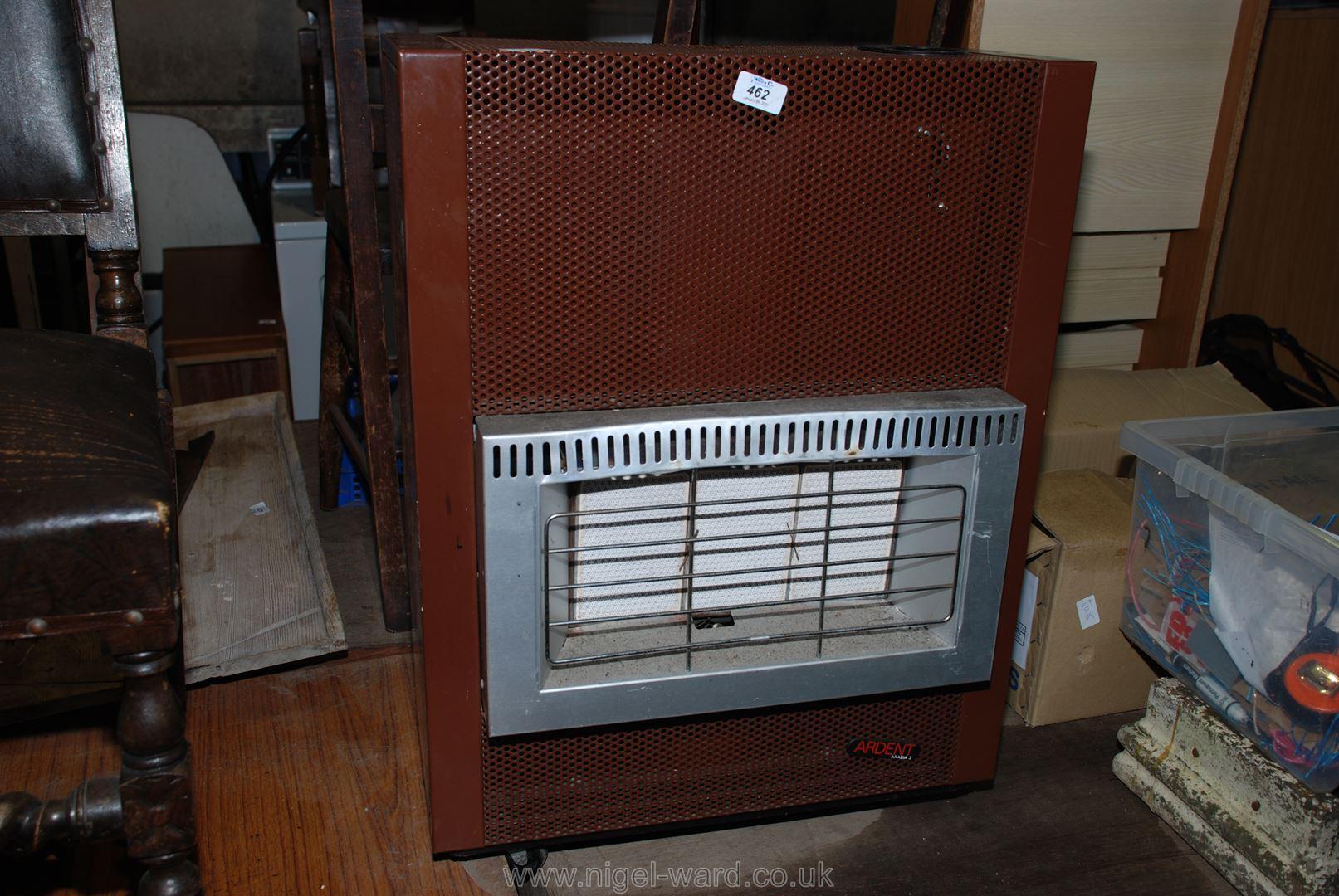 A portable gas heater, (no bottle).