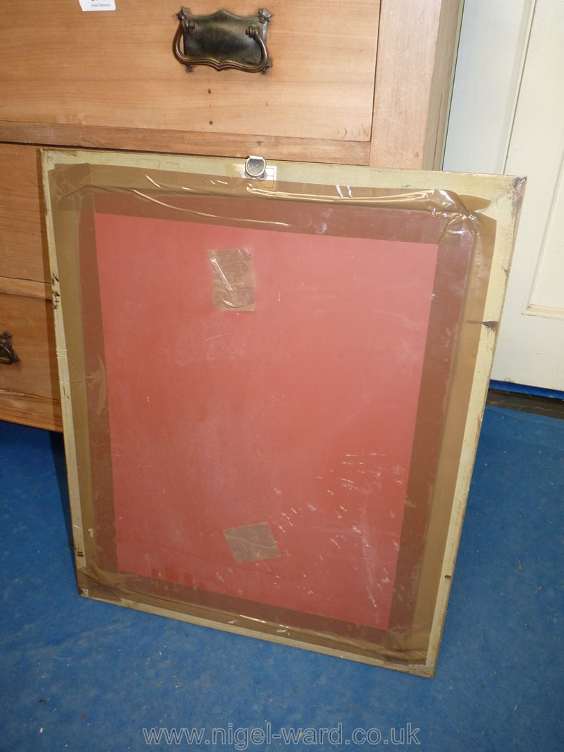 "Gilt framed mirror; approximately 19"" x 23"". Glass needs re-mounting. - Image 2 of 3"