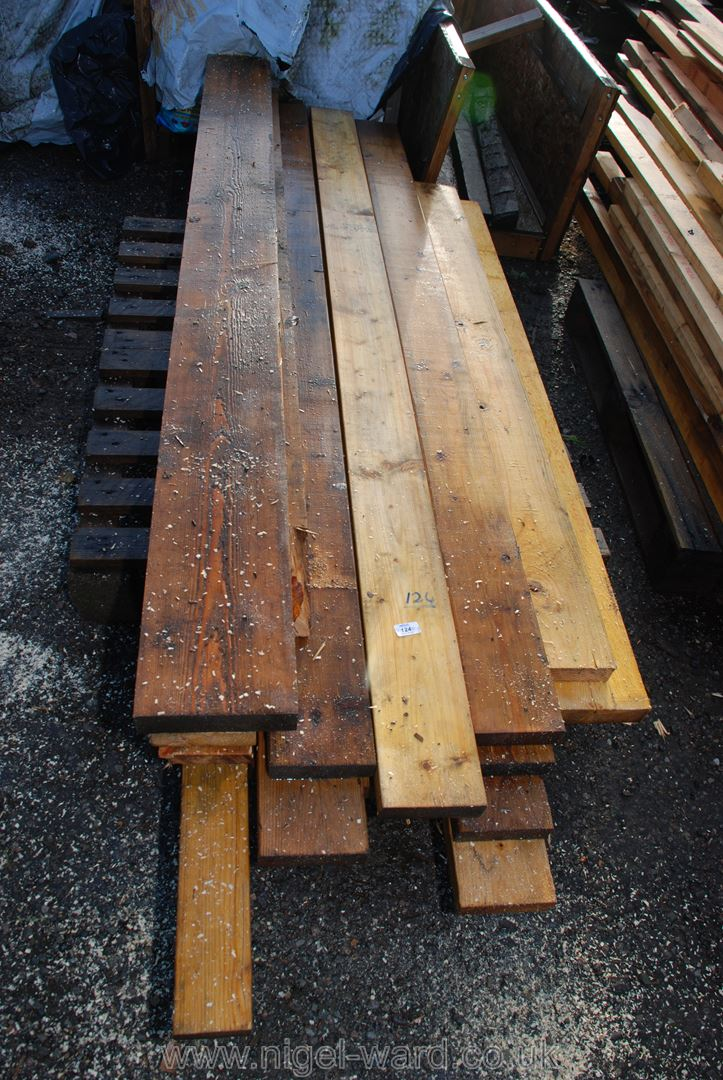 19 lengths of 80'' x 6'' x 1 3/4'' timber.