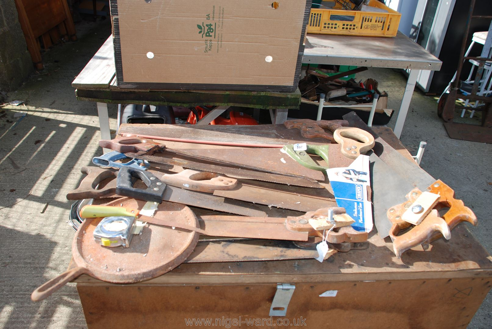 Quantity of brass backed tenon saws,