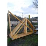Nine trusses for a lean-to, 101'' wide x 96'' high.