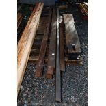 """18 lengths of Oak boarding 3"""" x 1/2''' and 4'' x 1/2'' x 116'' long approx"""