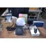 Quantity of radios, gent's razor, lights and air purifier etc.