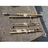 Seven various brass sprayers
