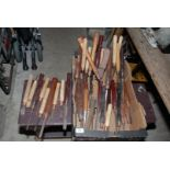 A large quantity of various wood-turning Chisels.