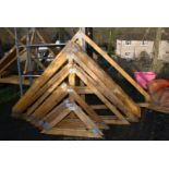 15 various wooden trusses 102'' wide.