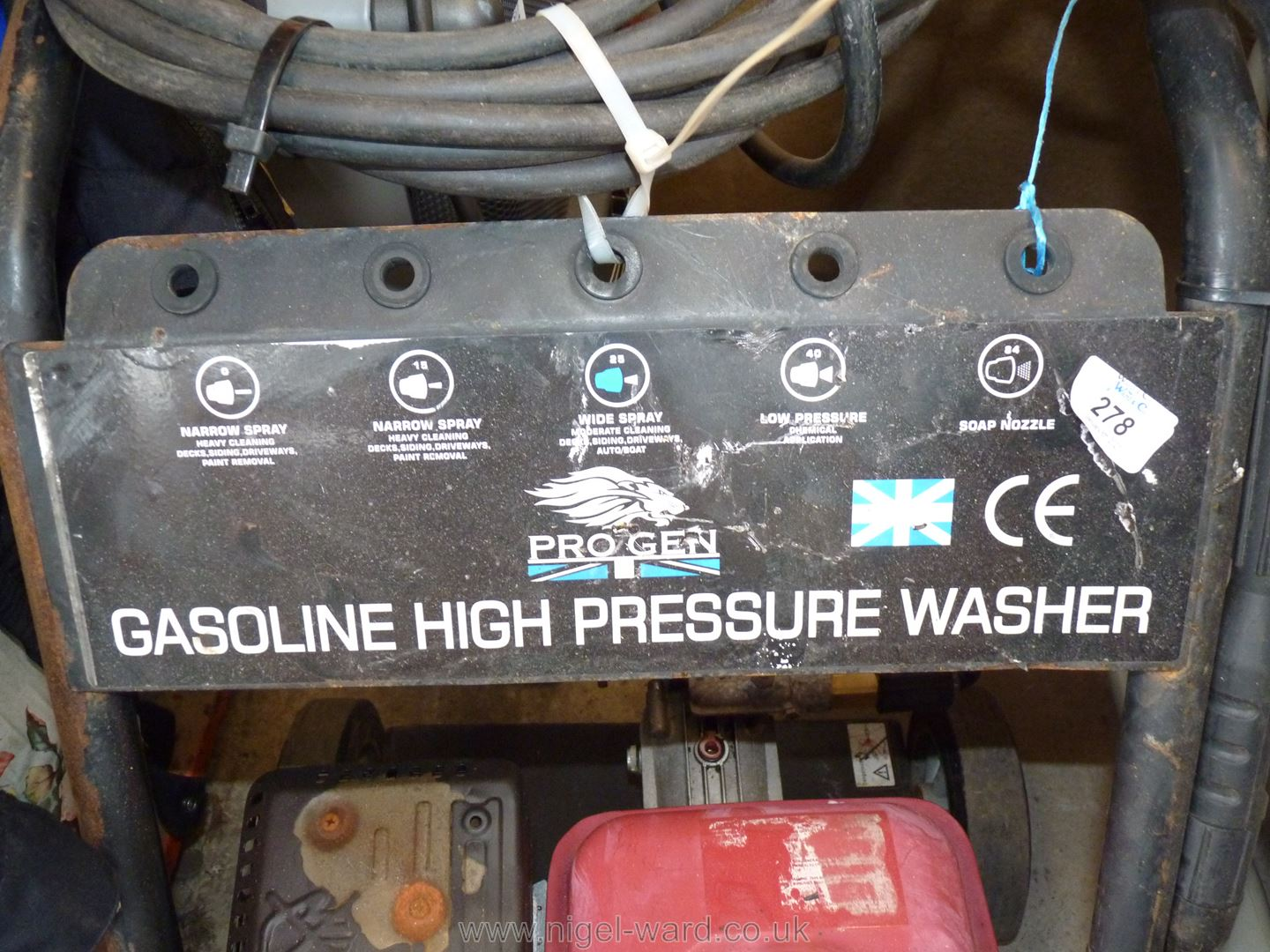Petrol high power Pressure Washer. - Image 7 of 10