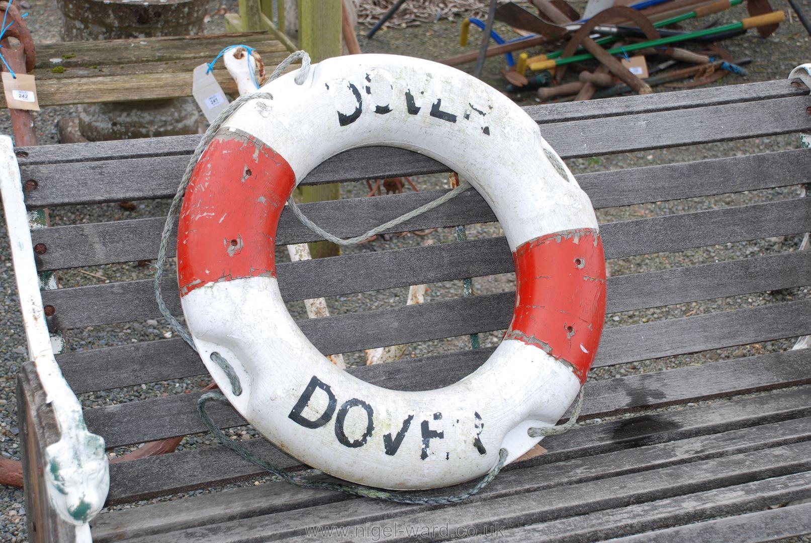 Ship's life buoy ring