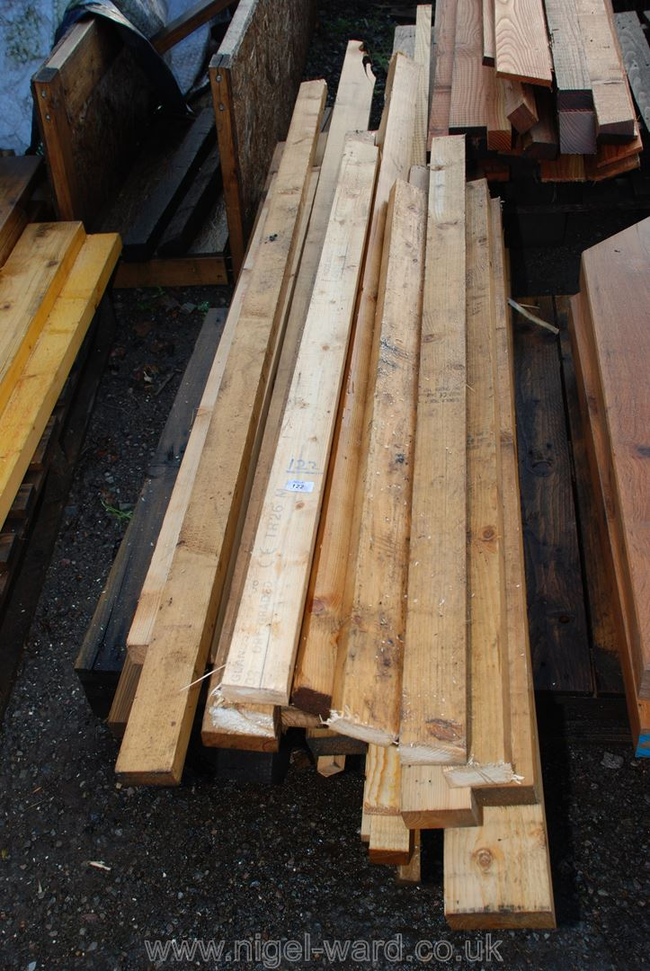 Quantity of timber 78'' long approx.