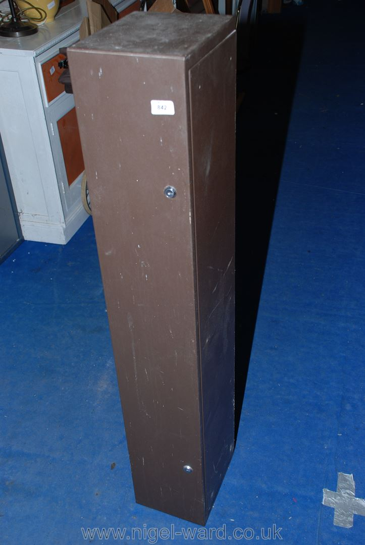 A gun safe (keys in office).