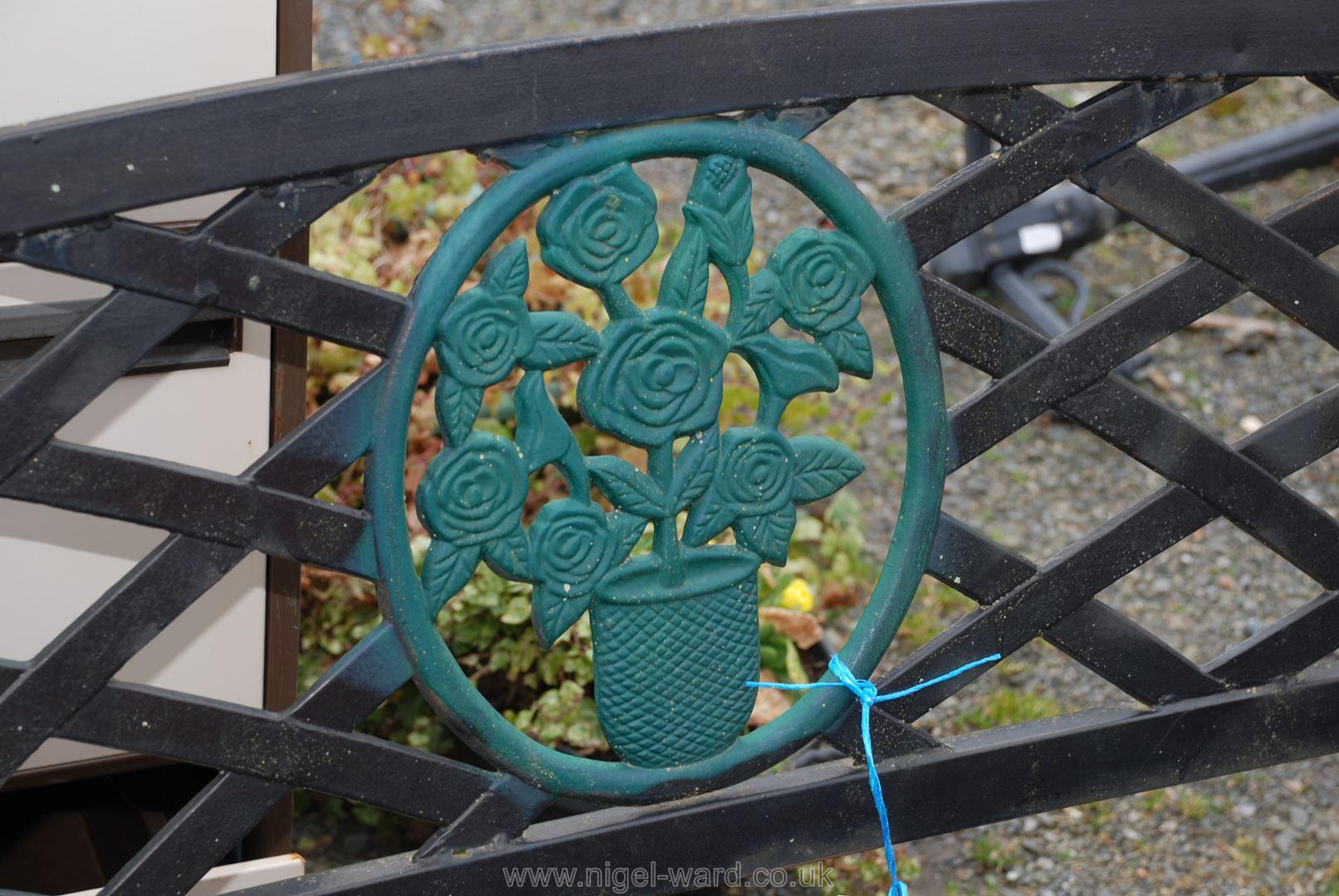 Metal garden bench, ,50'' long, - Image 2 of 2