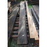 Three lengths of Oak board 9'' x 1'' x 132'' long.