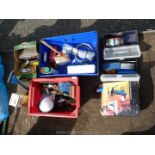 Two small toolboxes and contents, various hand tools, First Aid kit,