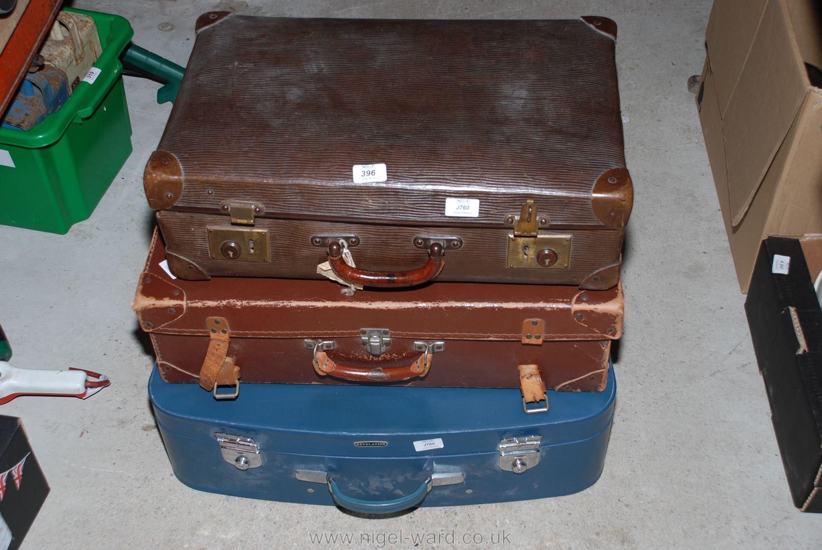 Three travel cases.