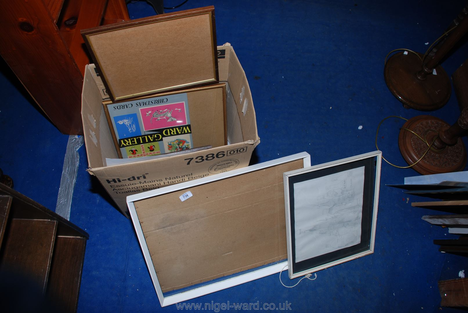 A quantity of various glazed picture frames.