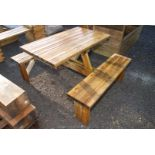 Picnic table/bench.