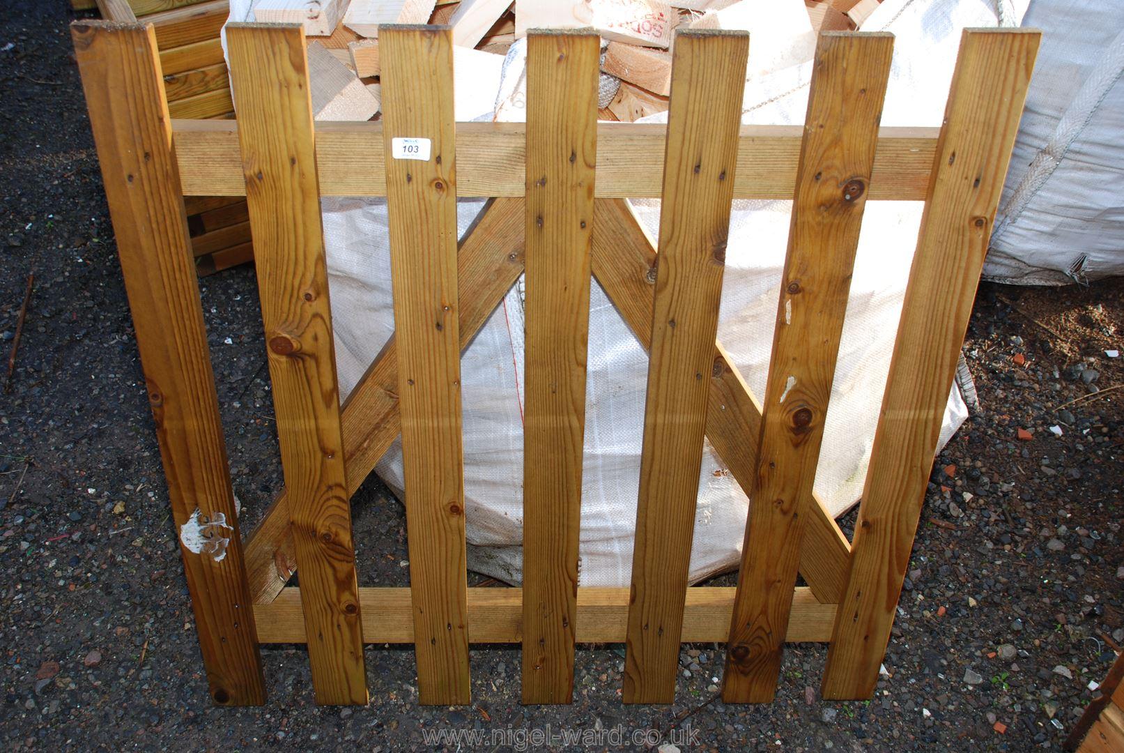 Single garden gate, 3' x 3'.