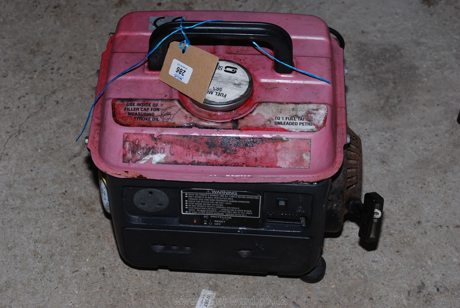 A petrol generator 650VA.