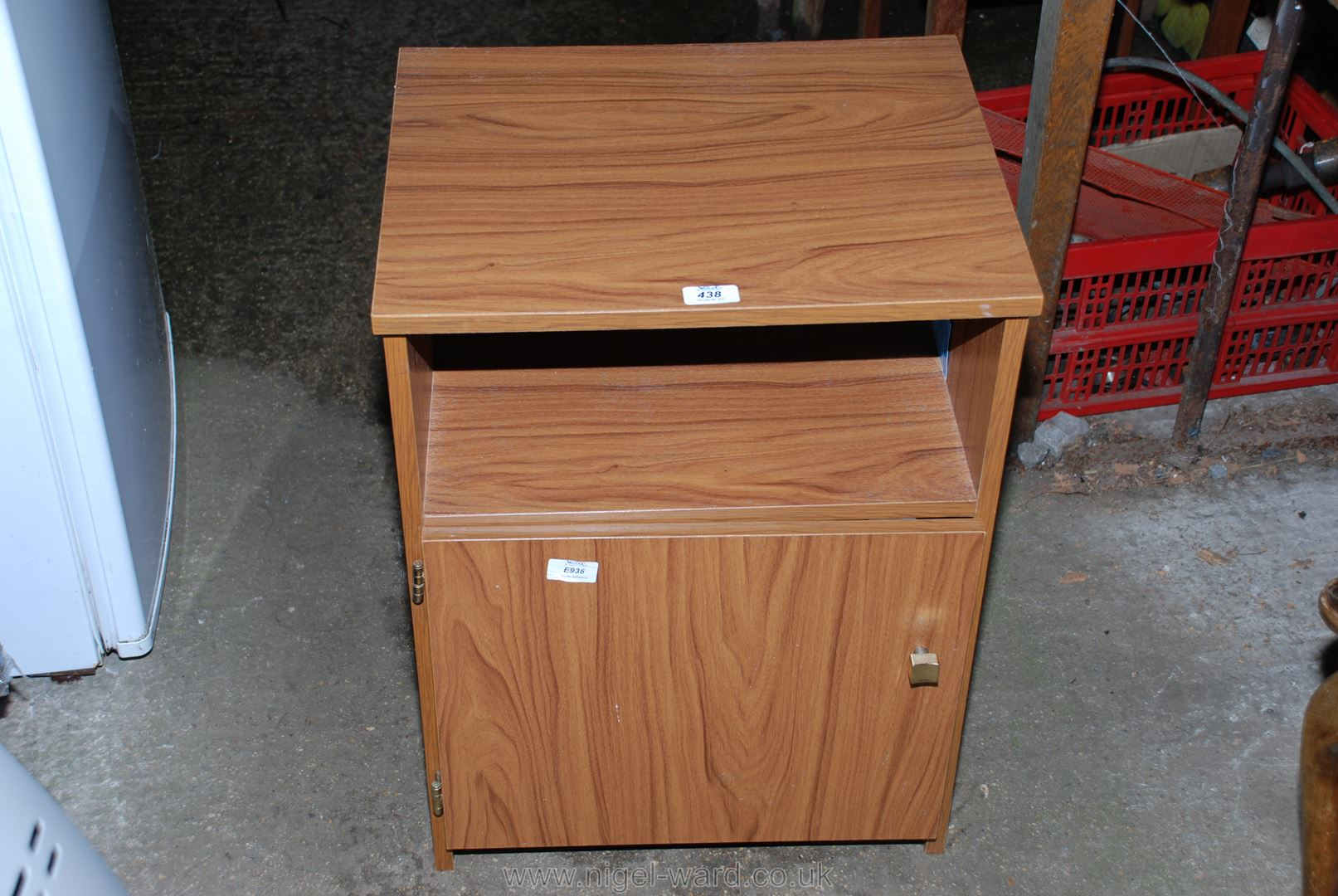 """A bedside cabinet, 18"""" x 16"""" x 24""""."""