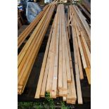 20 lengths of 2'' square x 18' long timber.