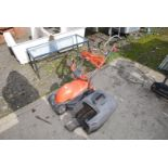 Small electric Flymo Easimo lawn mower and box