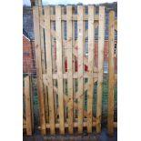 Pair of wooden gates 6' x 3' each.