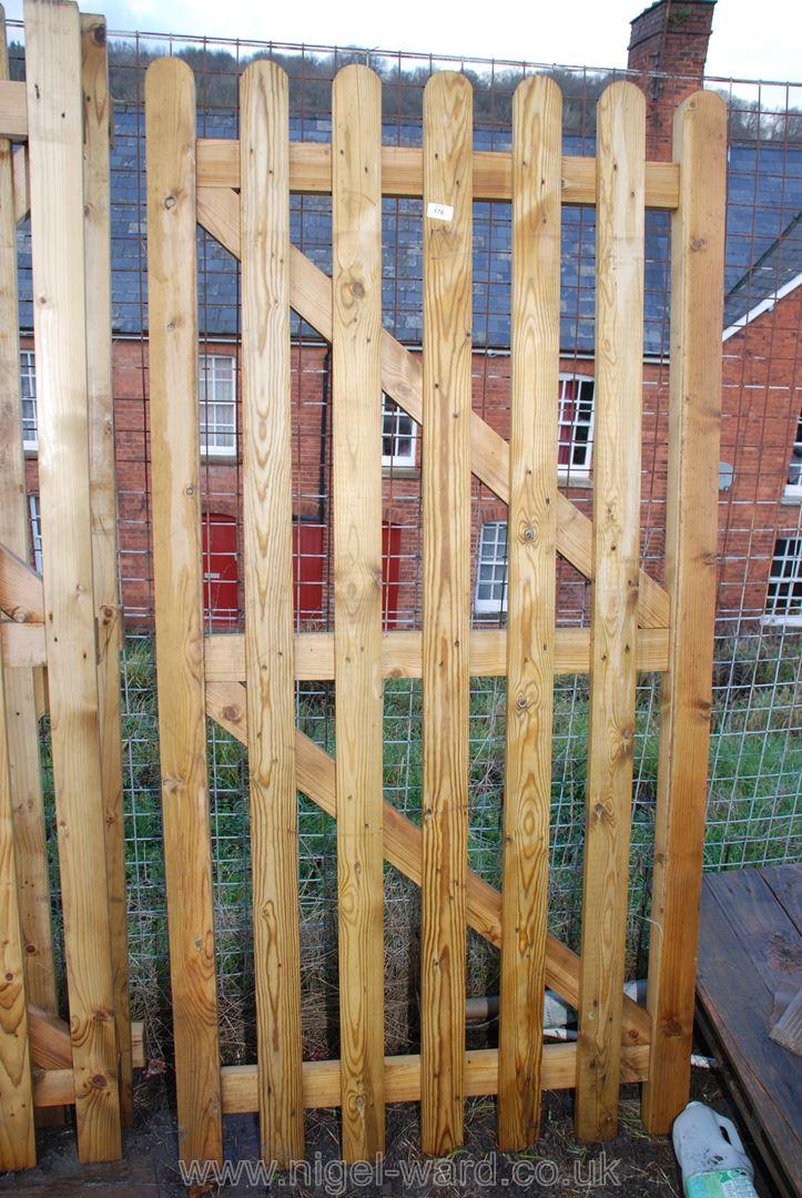 Single 6' x 3' wooden gate.