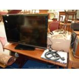 Toshiba Regza 37'' flat screen TV and DVD player,