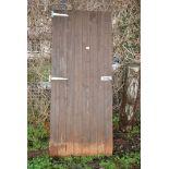 Wooden shed door 28'' wide x 67'' high.