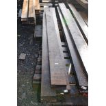 Five lengths of Oak 6 1/2'' x 2'' x 112'' long.
