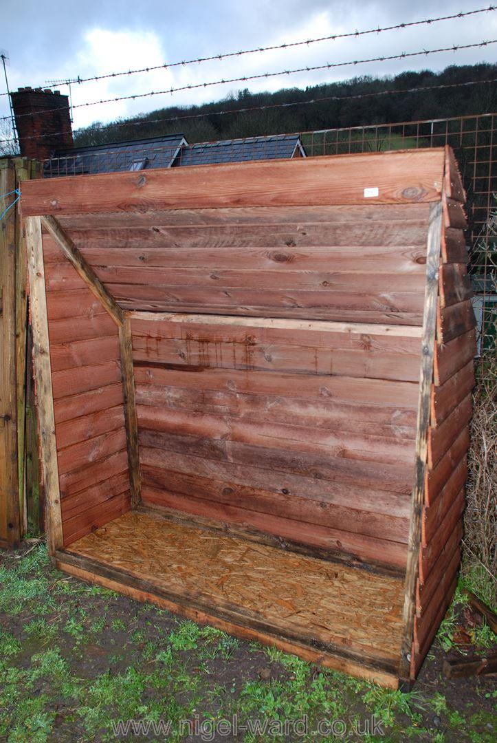 A woodshed.