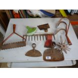 Quantity of Wolf tools, garden tool attachments, etc.