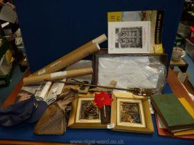 A quantity of miscellanea including a sword shaped Poker, Royal souvenir newspapers,