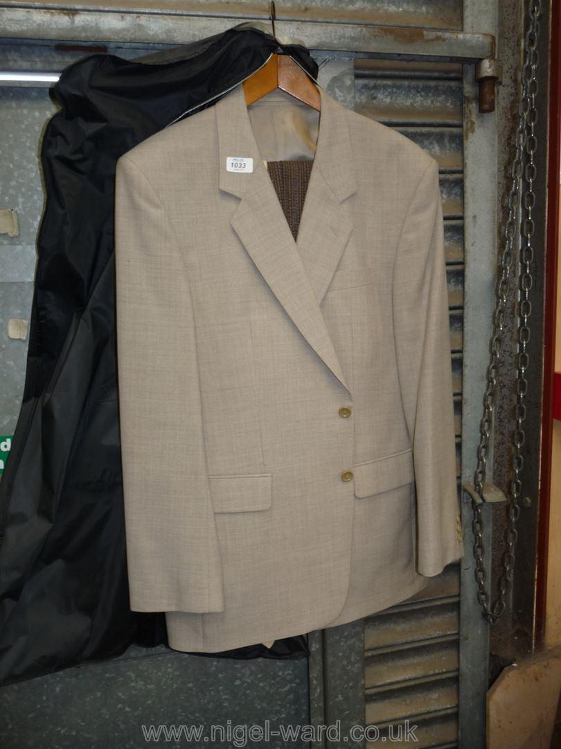 A gents light grey polyester Halon menswear Jacket,