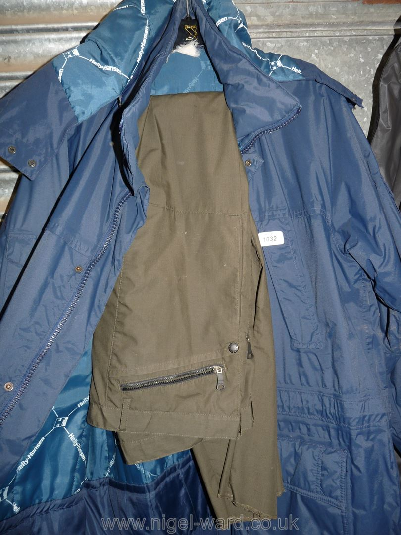 A navy blue Helly Hansen double lined Raincoat with hood, - Image 2 of 2
