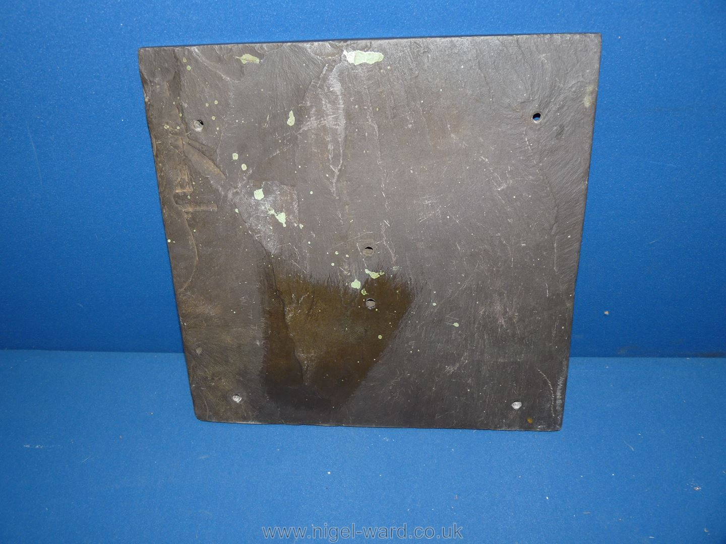 A Victorian slate Sundial engraved Fred'k Hollins 1868, - Image 3 of 3