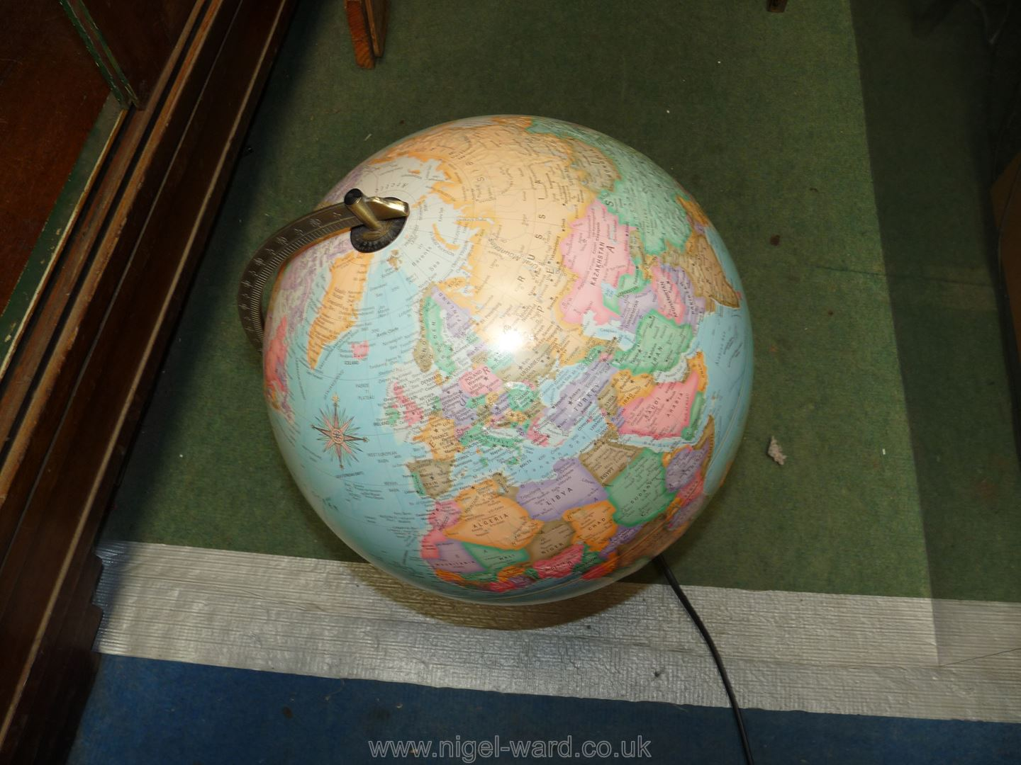 An illuminated 'The Political world' globe by Micador with raised mountain ranges. - Image 3 of 3