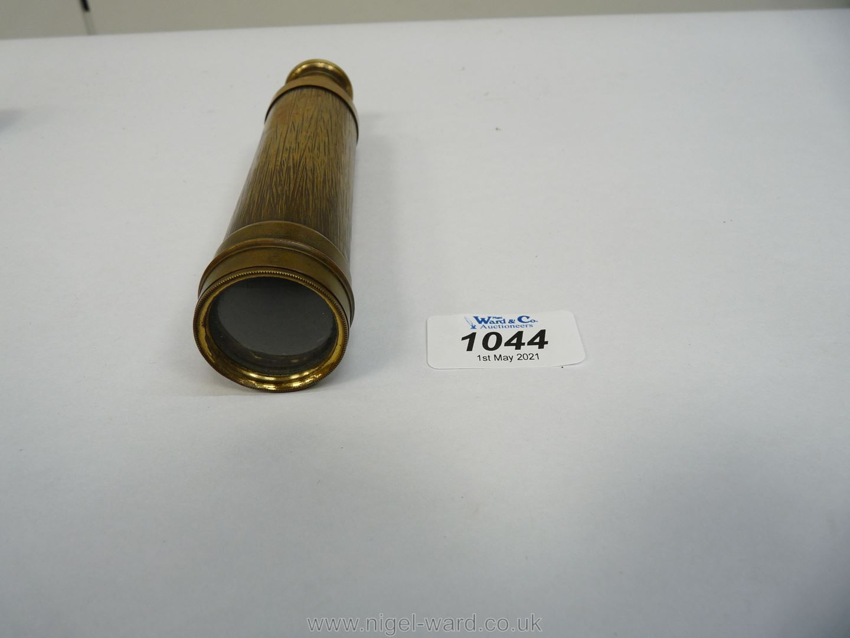 A Victorian brass three draw Telescope inscribed Keyzor & Bendon, late Harris & Son, - Image 2 of 4