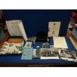 A small quantity of RAF memorabilia including a letter from the Queen of promotion to flying