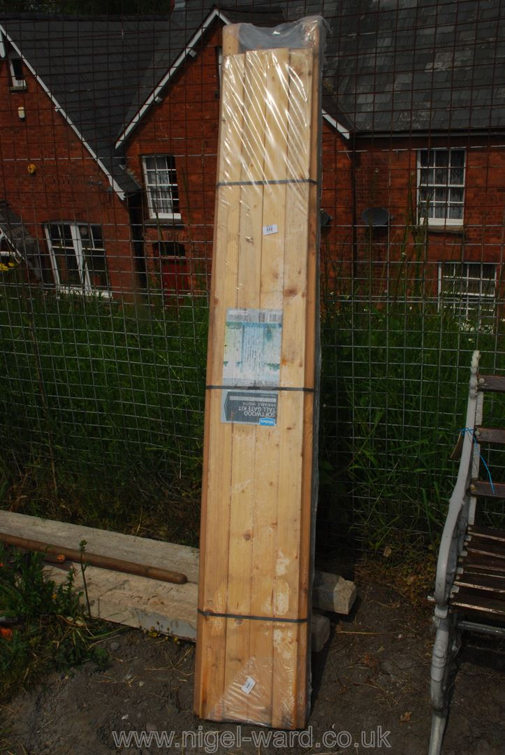 A Wickes softwood tall gate kit.