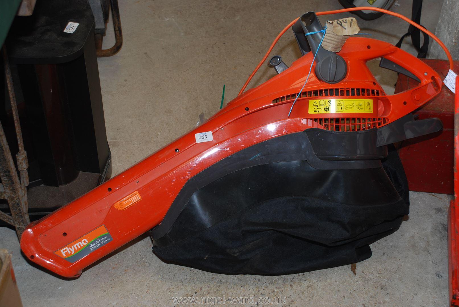 A Flymo garden vacuum/blower.