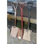 Three shovels.