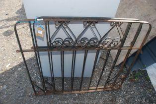 A pair of metal garden gates,